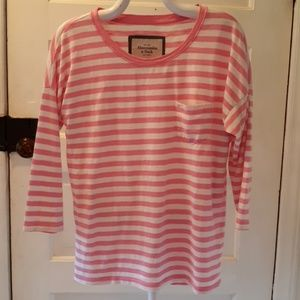 Abercrombie pink striped
